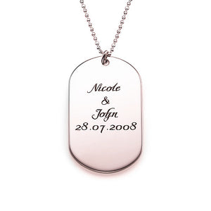 Dog Tag Necklace in Silver