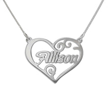 Load image into Gallery viewer, Heart Name Necklace-002