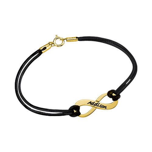 Personalized Infinity Bracelet in Gold Plating