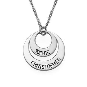 Personalized Jewelry for Moms Disc Necklace
