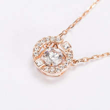 Load image into Gallery viewer, Beating heart, crystal color, delicate, female necklace
