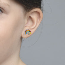 Load image into Gallery viewer, Rainbow Earrings for Kids