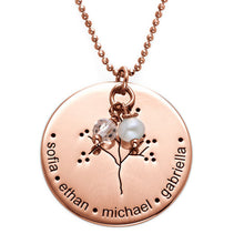 Load image into Gallery viewer, Personalized Rose Gold Plating Family Tree Necklace