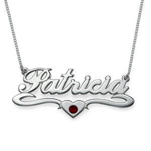 Middle Heart Name Necklace