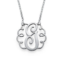 Load image into Gallery viewer, Single Initial Monogram Necklace