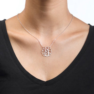 Single Initial Monogram Necklace