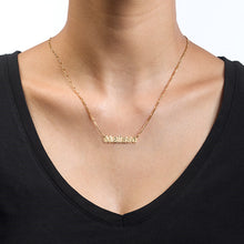 Load image into Gallery viewer, Small Nameplate Necklace-with Gold Plating