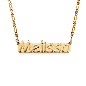 Small Nameplate Necklace-with Gold Plating
