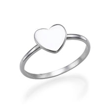 Load image into Gallery viewer, Sterling Silver Heart Initial Ring