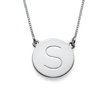 Load image into Gallery viewer, Circle Initial Pendant Necklace
