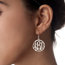 Load image into Gallery viewer, Sterling Silver Monogram Earrings