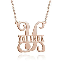 Load image into Gallery viewer, Name Necklace Personalized Monogram Initial Style Necklace