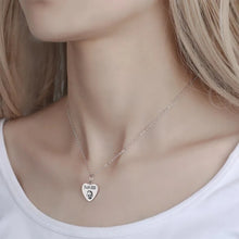 Load image into Gallery viewer, Photo Portrait Necklace Heart-Shaped Silver