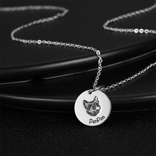 Load image into Gallery viewer, Photo Portrait Necklace Round Shape Silver