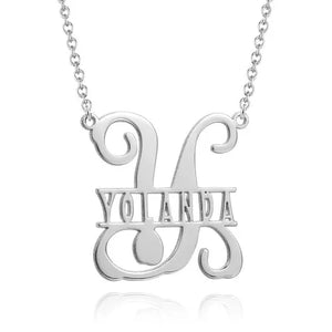 Name Necklace Personalized Monogram Initial Style Necklace