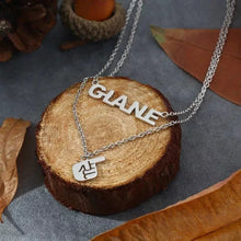 Load image into Gallery viewer, Name Necklace Finger Style Silver Plated