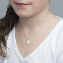 Load image into Gallery viewer, Tiny Cat Necklace with Initial in Sterling Silver