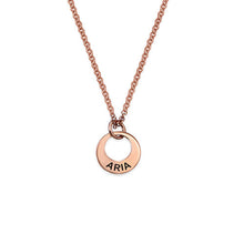 Load image into Gallery viewer, Tiny Rose Gold Plated MiniDisc Necklace
