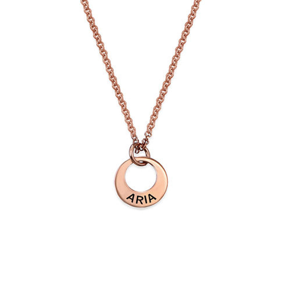 Tiny Rose Gold Plated MiniDisc Necklace