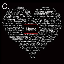 Load image into Gallery viewer, 100 Languages I Love You Projection Necklace CZ Heart Pendant