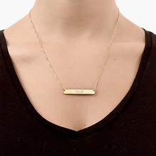 Load image into Gallery viewer, Sterling Silver Bar Necklace with Name Engraved