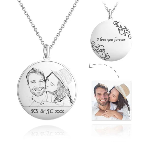 Round Photo Engraved  Picture