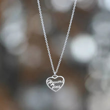 Load image into Gallery viewer, Large Personalized Heart Two Name Necklace Silver