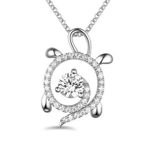 Load image into Gallery viewer, Personalized Sterling Silver Sea Turtle Necklace