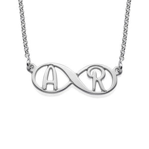 infinity necklace with Two initials