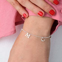 Load image into Gallery viewer, Separate Name Bracelet in Silver