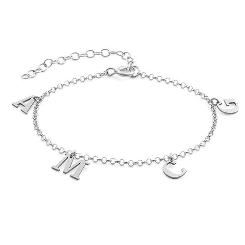 Separate Name Bracelet in Silver