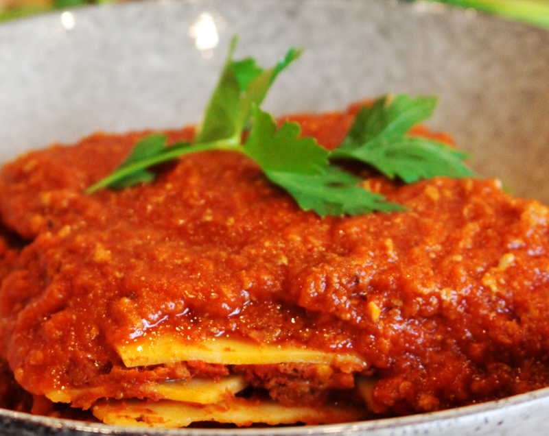 Lasagne (Vegetarian) - Cooked - 3 Sizes(Small, Medium & Large)