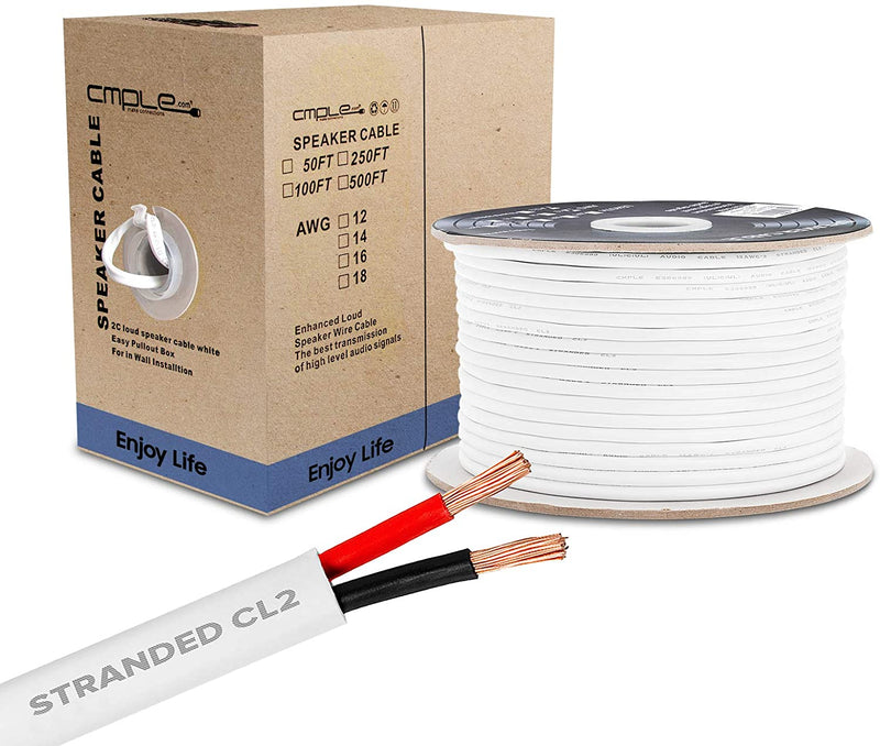 Speaker Wire, Jacketed Medium Duty 16/2 - 500 FT. Box