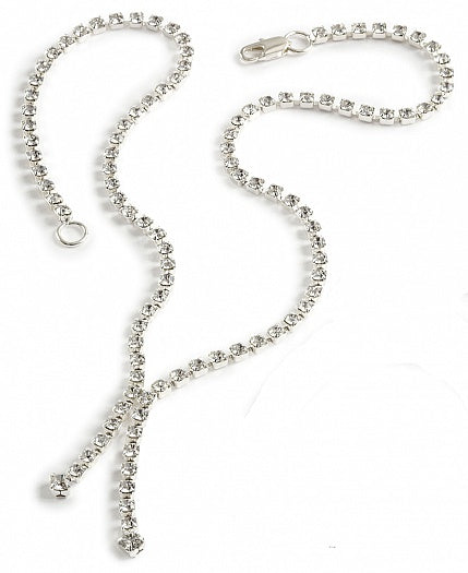 Crystal Two Strand Drop Necklace - In Swarovski Crystal