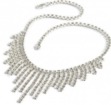 Waterfall Graduated Diamante Necklace -In Swarovski Crystal