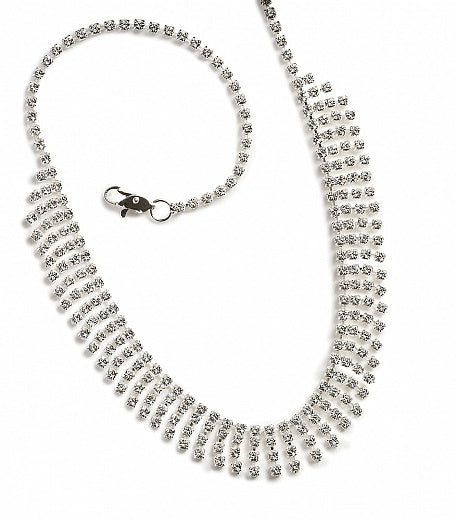 Diamante Tiffany Loop Necklace - In Swarovski Crystal