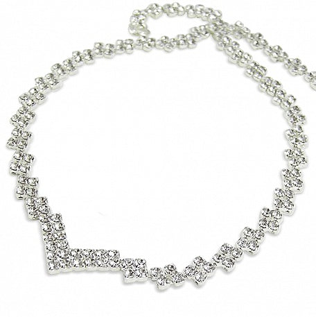 Crystal Diamante Step Necklace - In Swarovski Crystal