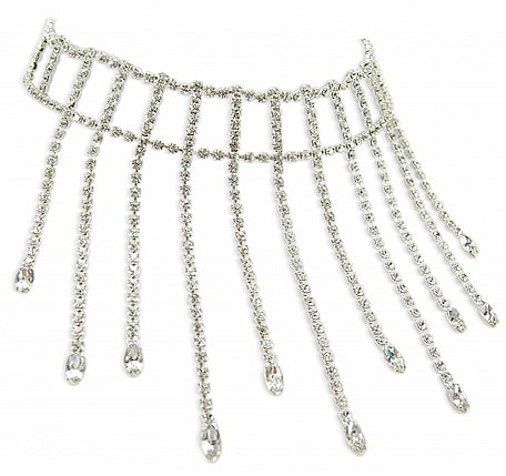 Crystal Drop Ladder Choker - In Swarovski Crystal
