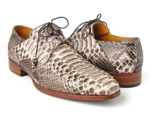 Men's Natural Genuine Python (snakeskin) Ghillie Lacing Dress Shoes