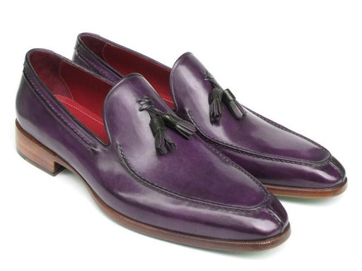 Men's Tassel Loafer Purple Hand Painted Leather