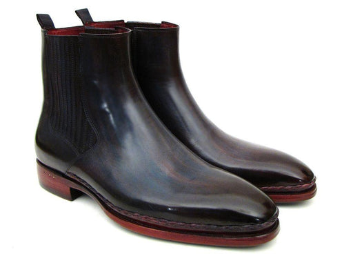 Men's Chelsea Boots Navy & Bordeaux