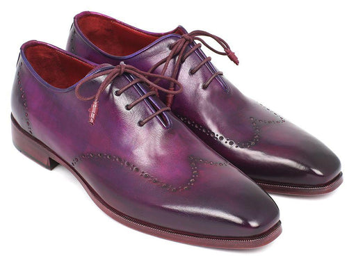 Men's Purple Wingtip Oxfords