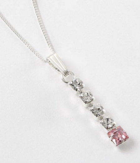Light Rose Diamante Pendant