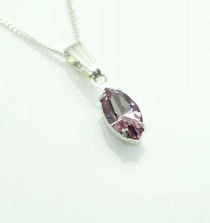 Stunning Large Tear Drop  Pendant - In Swarovski Crystal