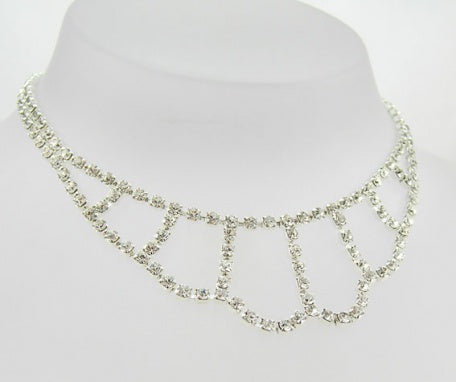 Classic Diamante Crystal Loop Necklace - Swarovski Crystal