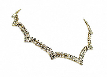 Diamante 'Zig Zag' Necklace - In Swarovski Crystal
