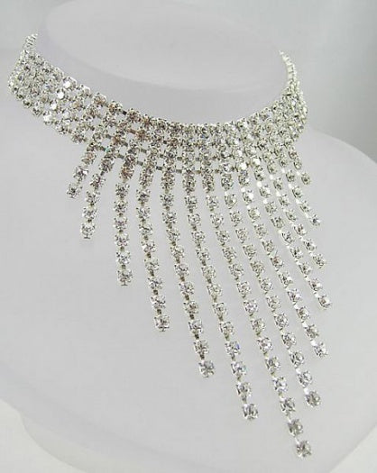 Crystal Graduated Drop Choker - In Swarovski Crystal