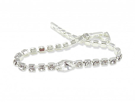 Diamante Navette Bracelet - In Swarovski Crystal