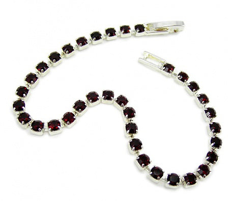 Ruby Crystal Diamante Bracelet - In Swarovski Crystal