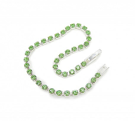 Peridot Crystal Diamante Bracelet - In Swarovski Crystal